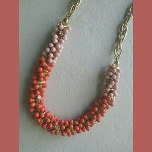 Coldwater Creek Beaded Gold Chain Necklace